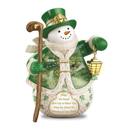 When Irish Eyes Are Smiling Snowman Figurine Featuring Edmund Sullivan