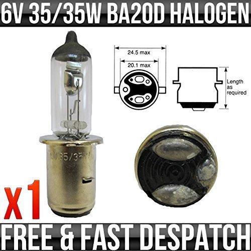 MOTORBIKE & SCOOTER 6V 35/35W BA20D HALOGEN UPGRADE BULB Top Lamp
