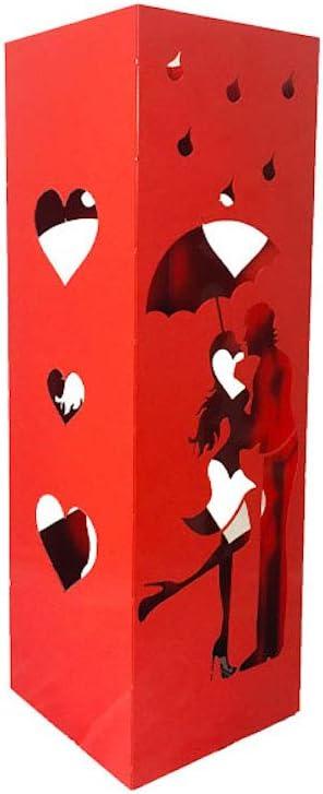Dimensiones: 15 x 15 x 47 cm Dise/ño Moderno Apto para Uso Interior y Exterior Parag/üero Cuadrado con Bandeja extra/íble CAI /& ZAI Fabricado en Italia