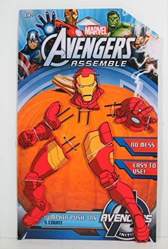 MARVEL Avengers Assemble 5 Piece Iron Man Pumpkin Push-Ins]()