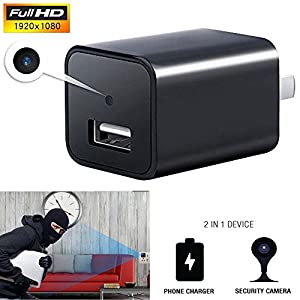 YSD Spy Camera, 1080P HD Hidden Camera with Motion Detection Mini USB Adapter, Support 32GB Internal Memory, Perfect for Home Security Nanny Pet Surveillance. by YSD