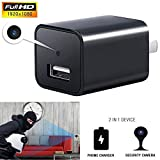 YSD Spy Camera, 1080P HD Hidden Camera with Motion Detection Mini USB Adapter, Support 32GB Internal Memory, Perfect for Home Security Nanny Pet Surveillance.
