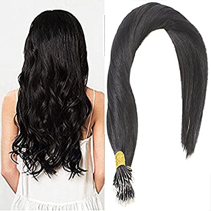 Sunny 14inch 50Strands 100% Human Hair Nano Ring Extensions Dark Brown Mixed Caramel Blonde Real Soft Human Hair Silky Straight Hair Extensions 1g/s 50g/Package ltd