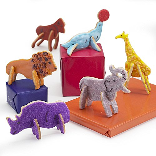 plastic animal cookie cutter set - 6