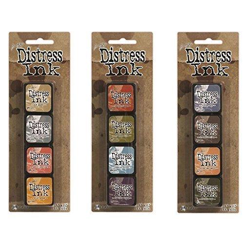 Distress Ink Frayed Burlap (Ranger Tim Holtz Distress Mini Ink Pad Kits #7, #8 and #9 Bundle)
