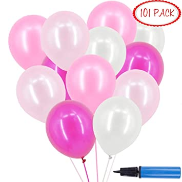 Okaytec Luftballons Rosa Weiss 3 2g Heliumballons Fur Hochzeit Party