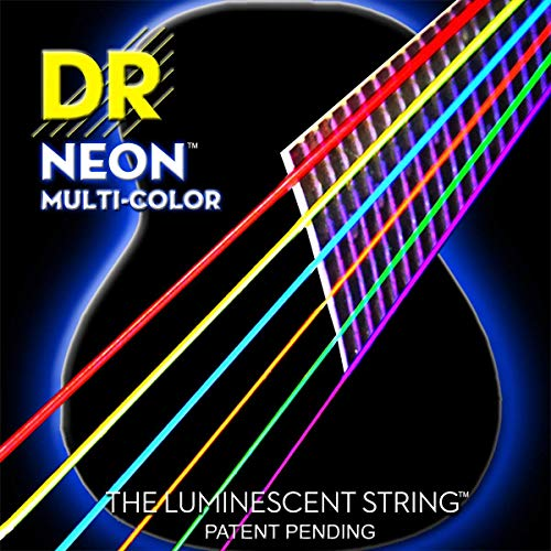 NMCA-12 Multi-Color Strings Lite Coated Phosphor Bronze Acoustic Guitar Strings, Light