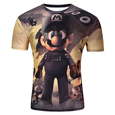 Men Women Mario brother Print Anime O Neck 3d T-Shirt