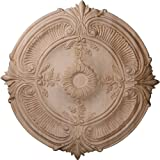 Ekena Millwork CMW16ACRO 16-Inch OD x 1 1/8-Inch P Carved Acanthus Leaf Wood Ceiling Medallion, Red Oak