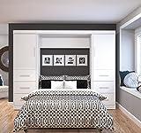 """BESTAR 25894-17 Nebula 109"""" Full Wall Bed Kit, White"""