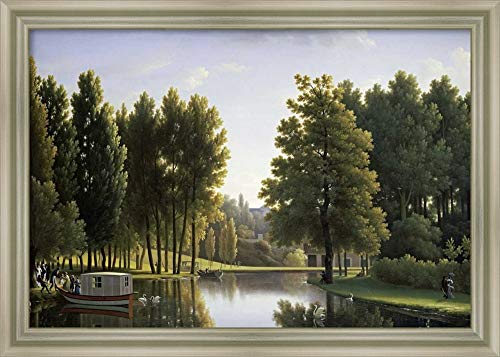 Framed Canvas Wall Art Print | Home Wall Decor Canvas Art | Le PARC De Mortefontaine by Jean-Joseph-Xavier Bidauld | Modern Decor | Stretched Canvas Prints