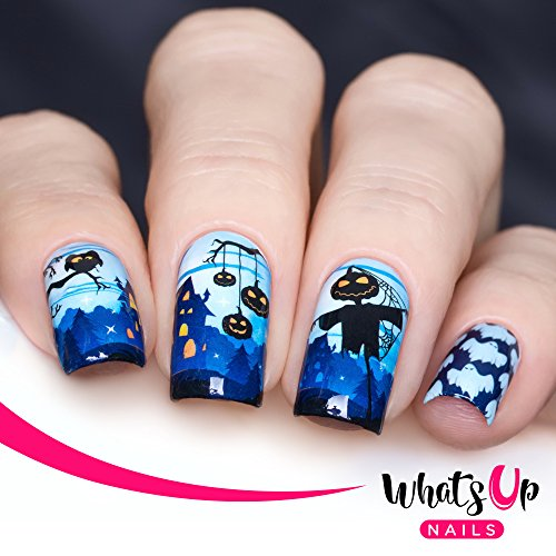 (Whats Up Nails - P040 Jack and the Ghouls Water Decals Sliders for Halloween Nail Art)