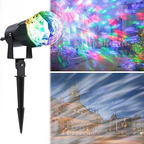 Projection Flame Light, LESHP Waterproof Magical Spotlight Rotating LED Projector Light with Flame Lightings for Indoor Outdoor Christmas Festival Decorations for Home, Garden, Landscape
