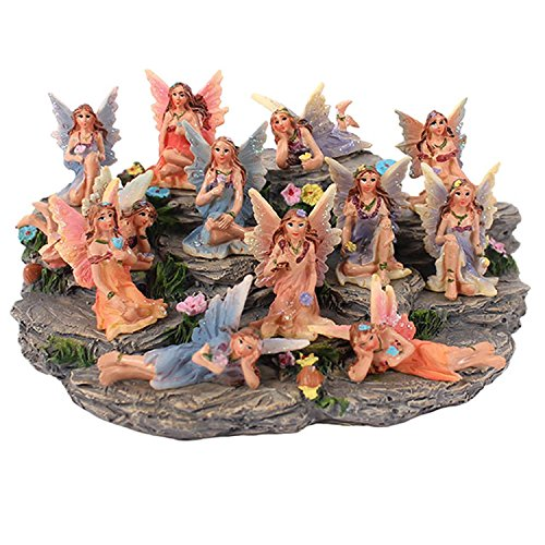 Something Different Fairies With Display Stand, Pink, Set Of 12