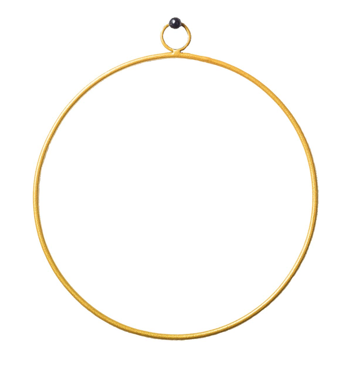 and Boho Styles Triangle hrubie Modern Gold Finished Metal Wreath Frame Dreamcatcher Rings and Macrame Hoops in Farmhouse Flower Arrangements Ideal for Crafts 8 in