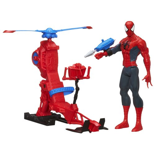 Marvel Ultimate Spider-Man Titan Hero Series Spider-Man Figure with Web Copter 12 Inches