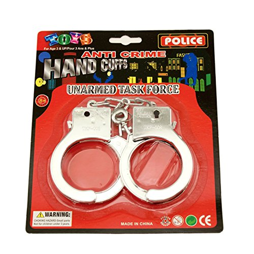 Prisoner Halloween Costume Accessories (Adorox Police Cowboy Handcuffs Halloween Jail Sheriff Costume Party Favor Prop)