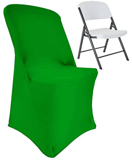 Fantastic Wedding Linens Inc 2 Pcs Lifetime Spandex Stretch Fitted Folding Chair Covers Wedding Party Decoration Chair Cover Emerald Inzonedesignstudio Interior Chair Design Inzonedesignstudiocom