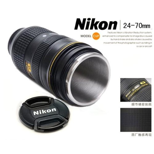 Amazoncom Nikon AFS Mm F Thermos Travel Mug Camera - Nikon coffee cup lens