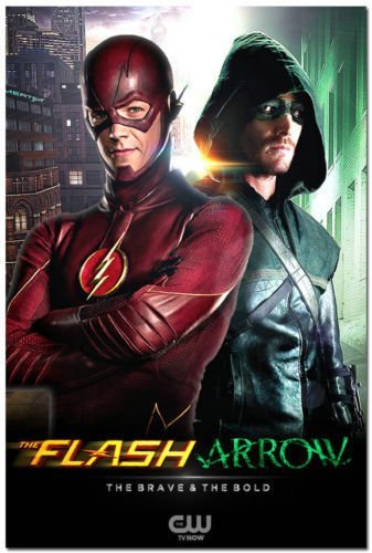 Tomorrow sunny GQ203 The Flash vs Arrow TV Series Art Silk Poster 24x32 Oliver Queen Barry Alle (Flash Vs Arrow)