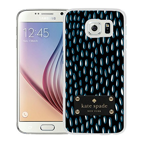 Luxurious And Nice Custom Designed Kate Spade Cover Case For Samsung Galaxy S6 White Phone Case 203