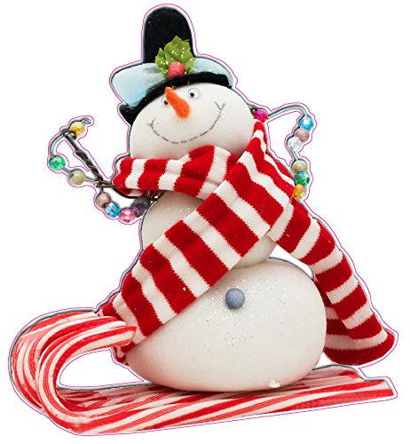 Nostalgia Decals Christmas and Holiday Wall Decor X Large Candy Cane Snowman Small 36