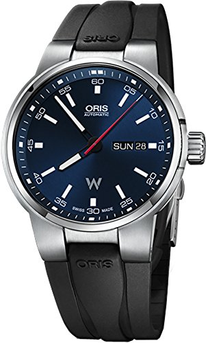 Oris Williams Day Date Stainless Steel 42mm Mens Watch on Black Rubber Strap