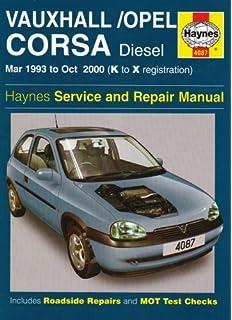 Vauxhall/Opel Corsa Diesel (Mar 93 - Oct 00) Haynes Repair Manual: