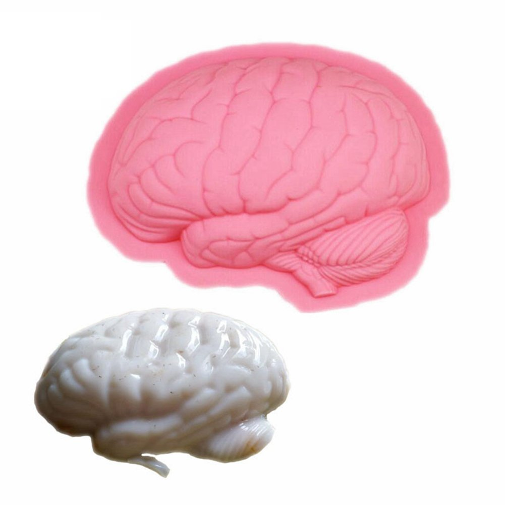 1 Pcs Scary Zombie Brain Jello Gelatin Mold for Cake Halloween Horror Prop Costume Party Gag Decoration Tools