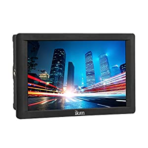 """Ikan DH7 7"""" 4K Signal Support 1920x1200 HDMI On -Camera Field Monitor for Canon LP-E6 and Sony L (Black)"""