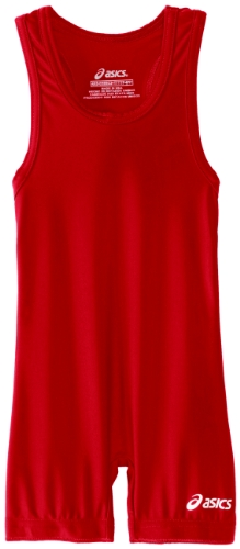 (ASICS Men's Solid Modified Singlet, Red 4XS)