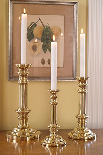 Jefferson Brass Tiffany Brass Candle Holder (Polished, 8.5)