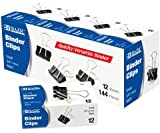 Small 3/4'' (19mm) Black Binder Clip (12 Box) 240 pcs sku# 1902636MA