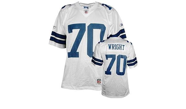 aadf7914b Amazon.com   Rayfield Wright Reebok NFL Replica Throwback Dallas Cowboys  Jersey   Sports Fan Jerseys   Sports   Outdoors