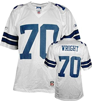 52f4dffbe57 Amazon.com : Rayfield Wright Reebok NFL Replica Throwback Dallas ...