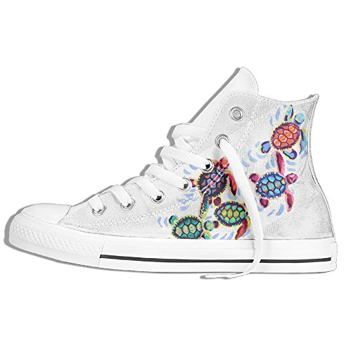 Multicolored Turtles Unisex Hi-tops Casual Shoes Footwear Customize News Trainers