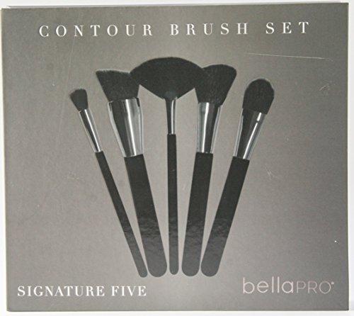 Bella Pro Contour Brush Set (Black/Silver) & 2oz Urban Wellness Brush (Wellness Set)