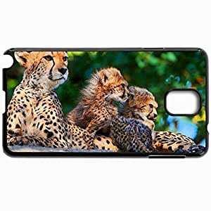 Customized Cellphone Case Back Cover For Samsung Galaxy Note 3, Protective Hardshell Case Personalized Cheetah Black