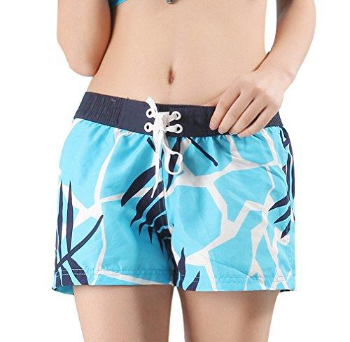 Pantalons Motif Amoureux Homme Acvip taille Les Xl Couple Couleurs Fleur D'eté Bleu Pour Confortable Bain Plage xxl 5 Femme Shorts De Maillots AFwxFd