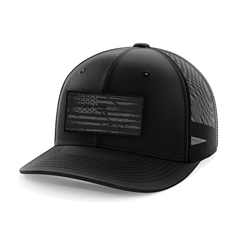 Phantom Black American Flag Flexfit Hat ()