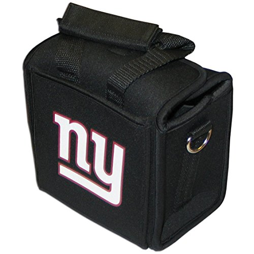 NFL New York Giants Neoprene Six Pack Can Tote Cooler - Black
