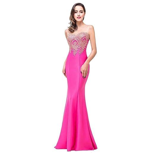 Sexy Sheer Lace Mermaid Long Prom Dresses Under 50 Elegant Royal Blue Evening Party Dresses Vestido de Festa Longo at Amazon Womens Clothing store: