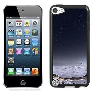 NEW Unique Custom Designed iPod Touch 5 Phone Case With Night Stars Mountain Range Winter Landscape_Black Phone Case