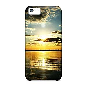 Durable Defender Case For Iphone 5c Tpu Cover(twilight At Sunsetscreen)