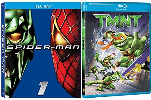 Teenage Mutant Ninja Turtles: TMNT Blu Ray & Spider-Man Blu Ray Hero Set Set