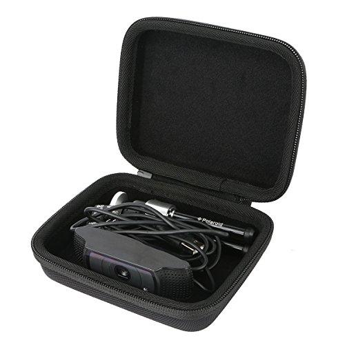 Khanka Carrying Travel Hard Case For Logitech HD Pro Webcam C920 / C930e . For Polaroid 8