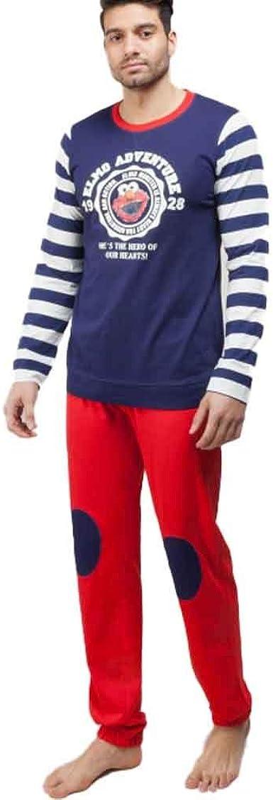 Pijama para Hombre 100% Algodón del Barrio Sésamo (M): Amazon ...