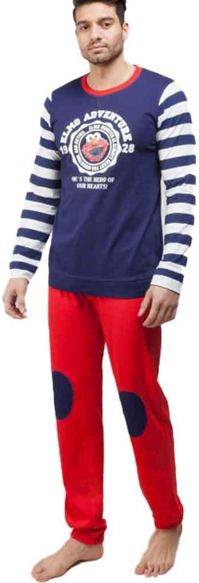 GISELA Pijama de Hombre Elmo 2/1561 - Azul, S: Amazon.es: Ropa