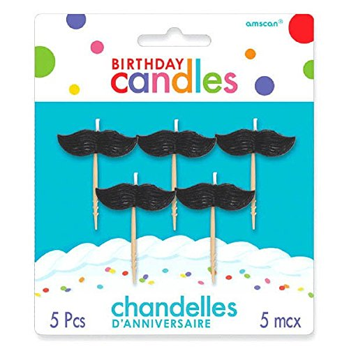 Molded Mustaches Pick Birthday Candles | Party -