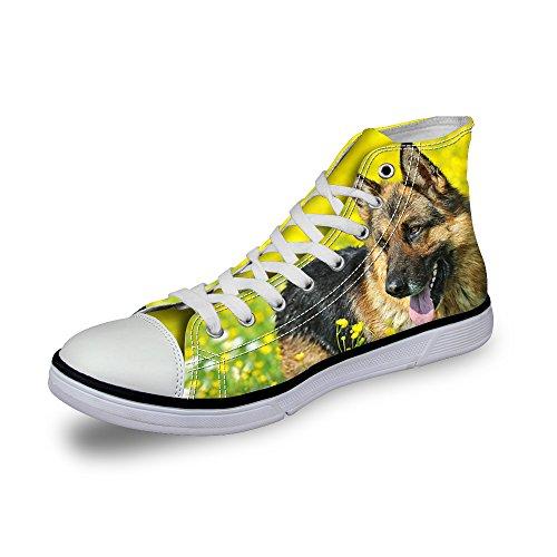 ThiKin 3Dプリント スニーカー メンズ キャンバス 動物 柄 カジュアル 靴 シューズ 動物柄 人気 個性的 軽量 通気 おしゃれ ファッション 通勤 通学 プレゼント ブラック レディーズ